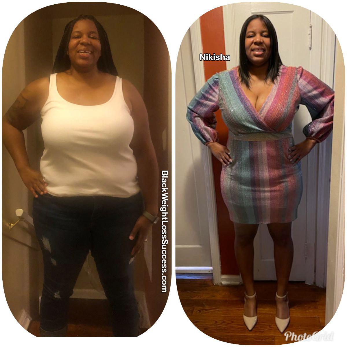 Nikisha before and after weight loss