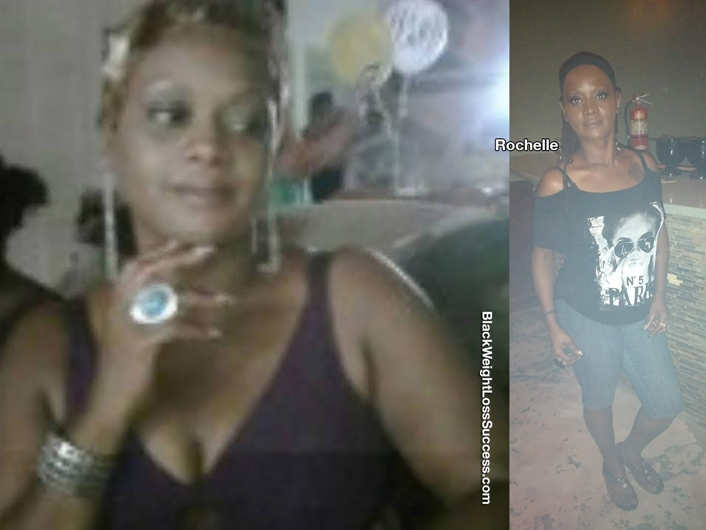 Rochelle before and after weight loss