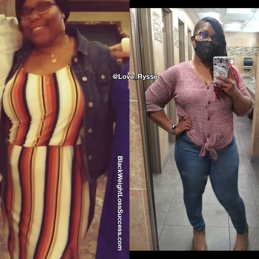 Rysse before and after weight loss