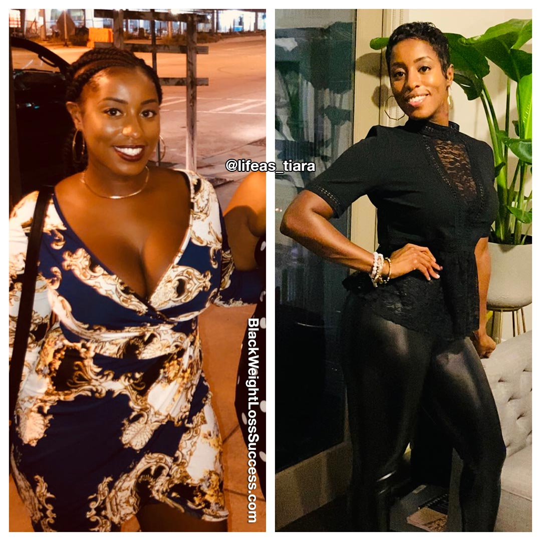 Tiara before and after weight loss