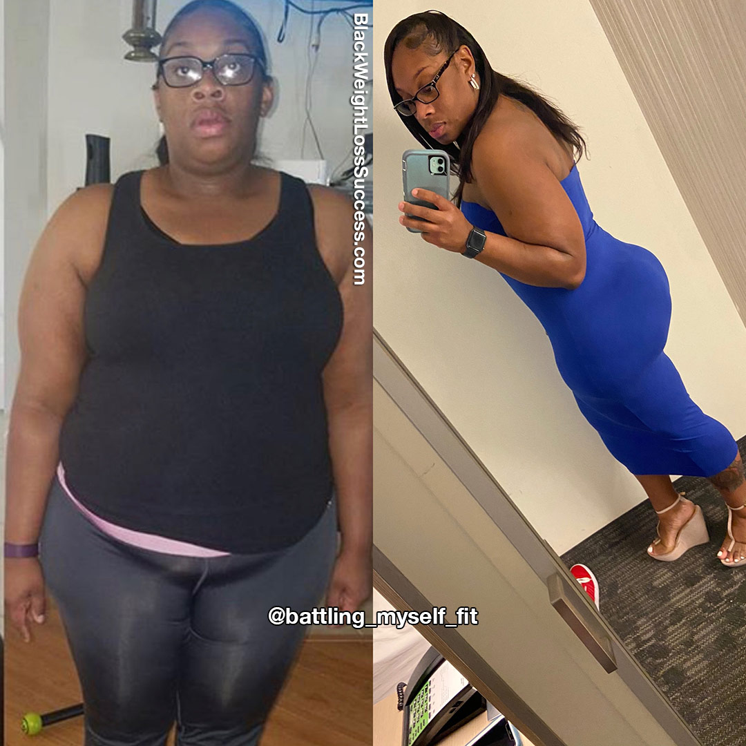 Tiffany before and after weight loss