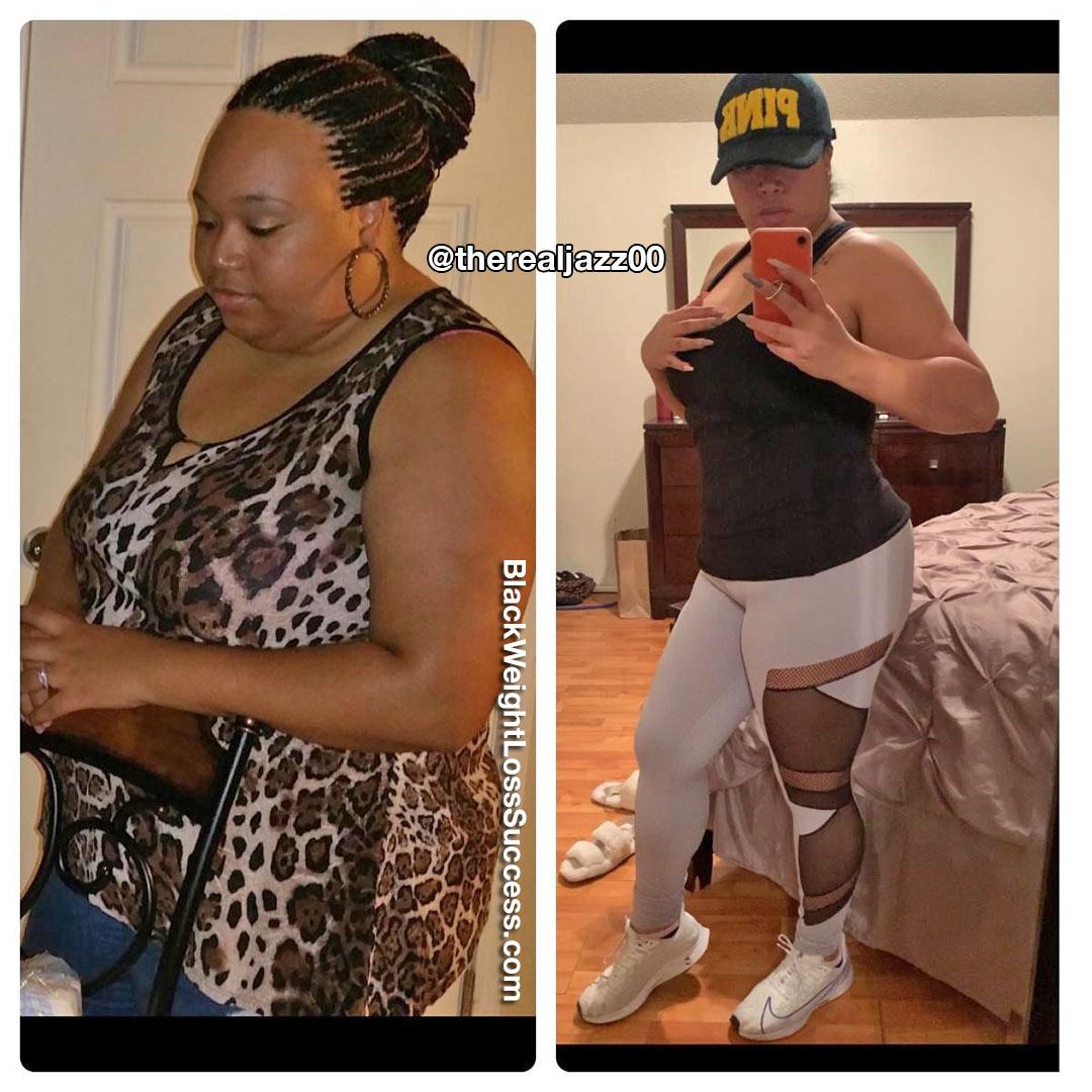 Jasmine lost 85 pounds