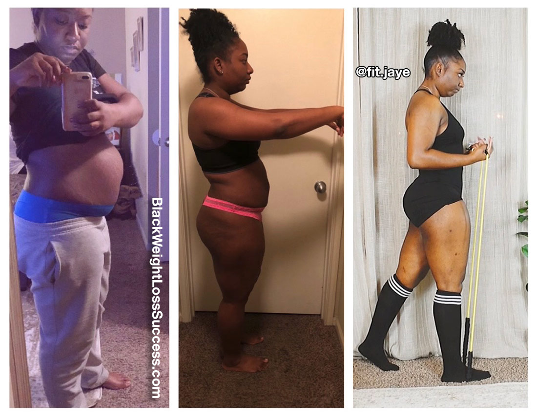 Jeanelle before and after weight loss