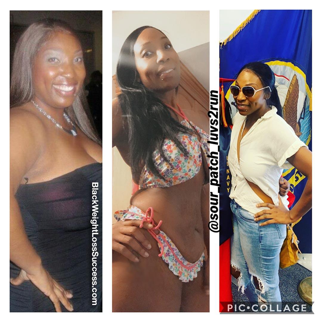 Latisha before and after weight loss
