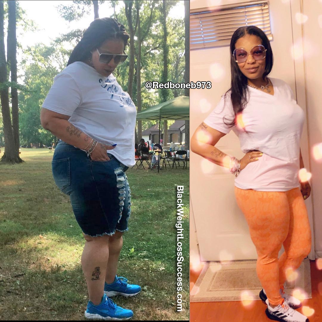 Rasheedah lost 100 pounds
