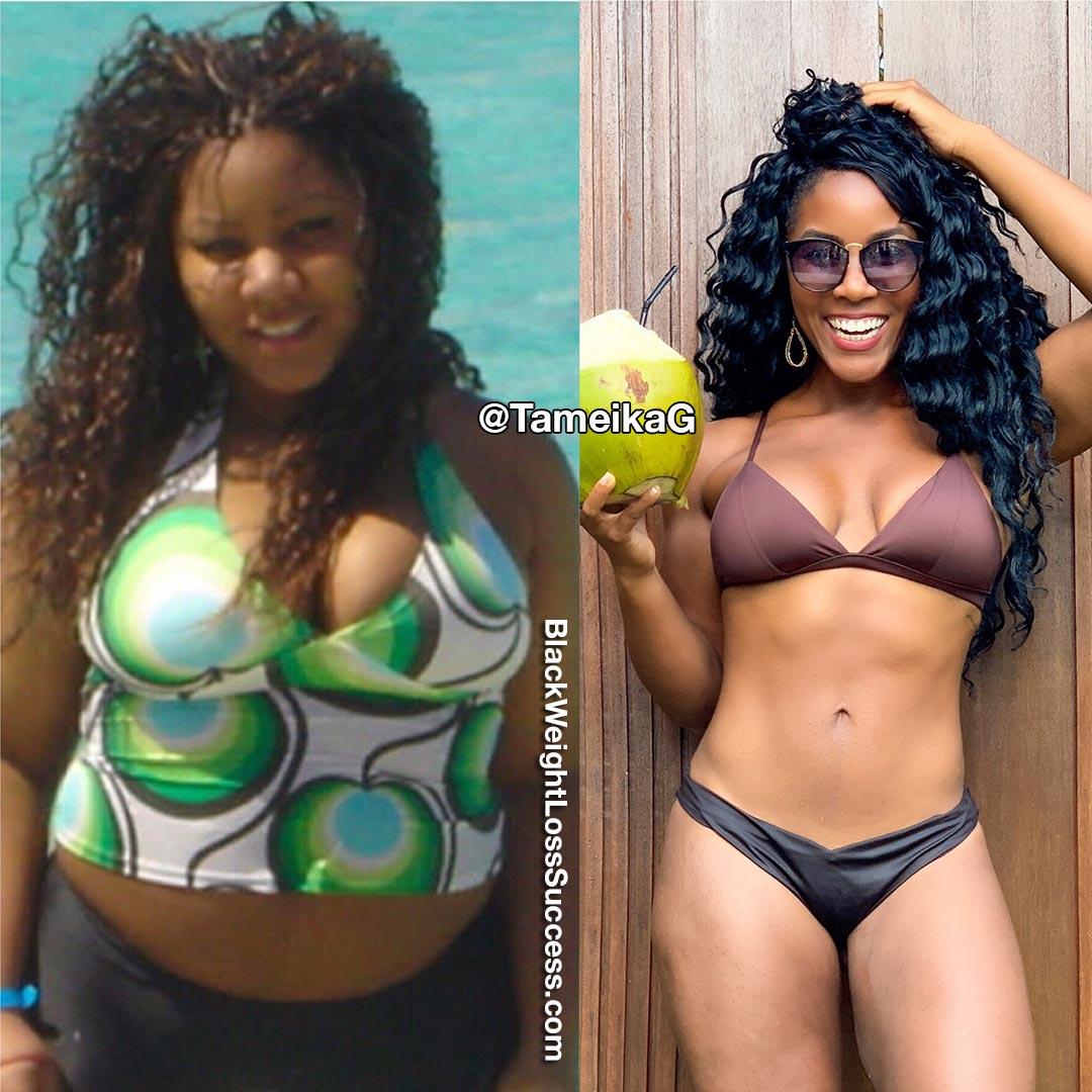 Tameika lost 90 pounds