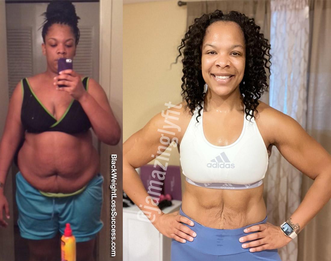 Jai-Lyn lost 70 pounds