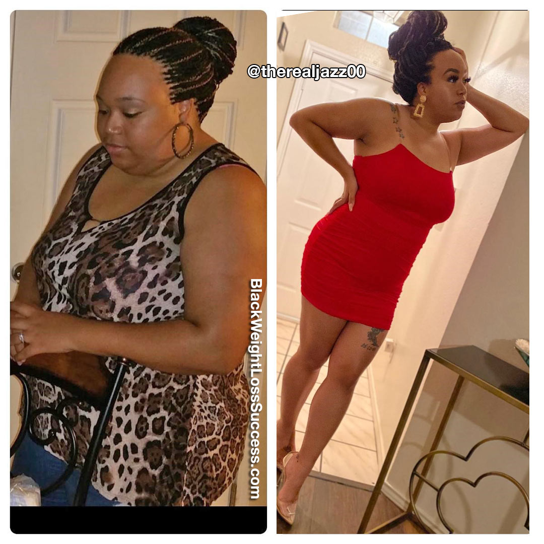 Jasmine before and after weight loss