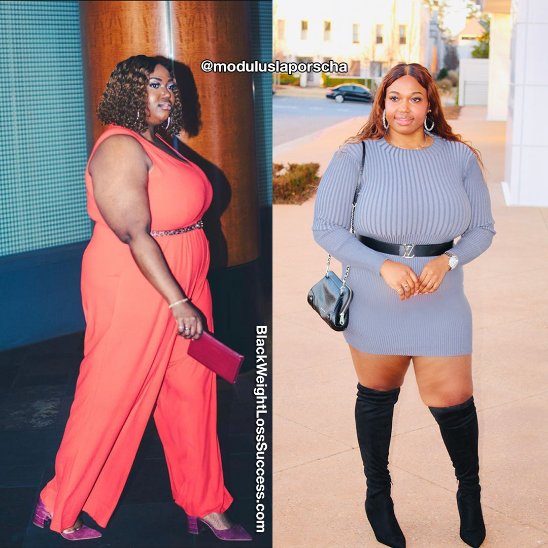 Laporscha before and after weight loss