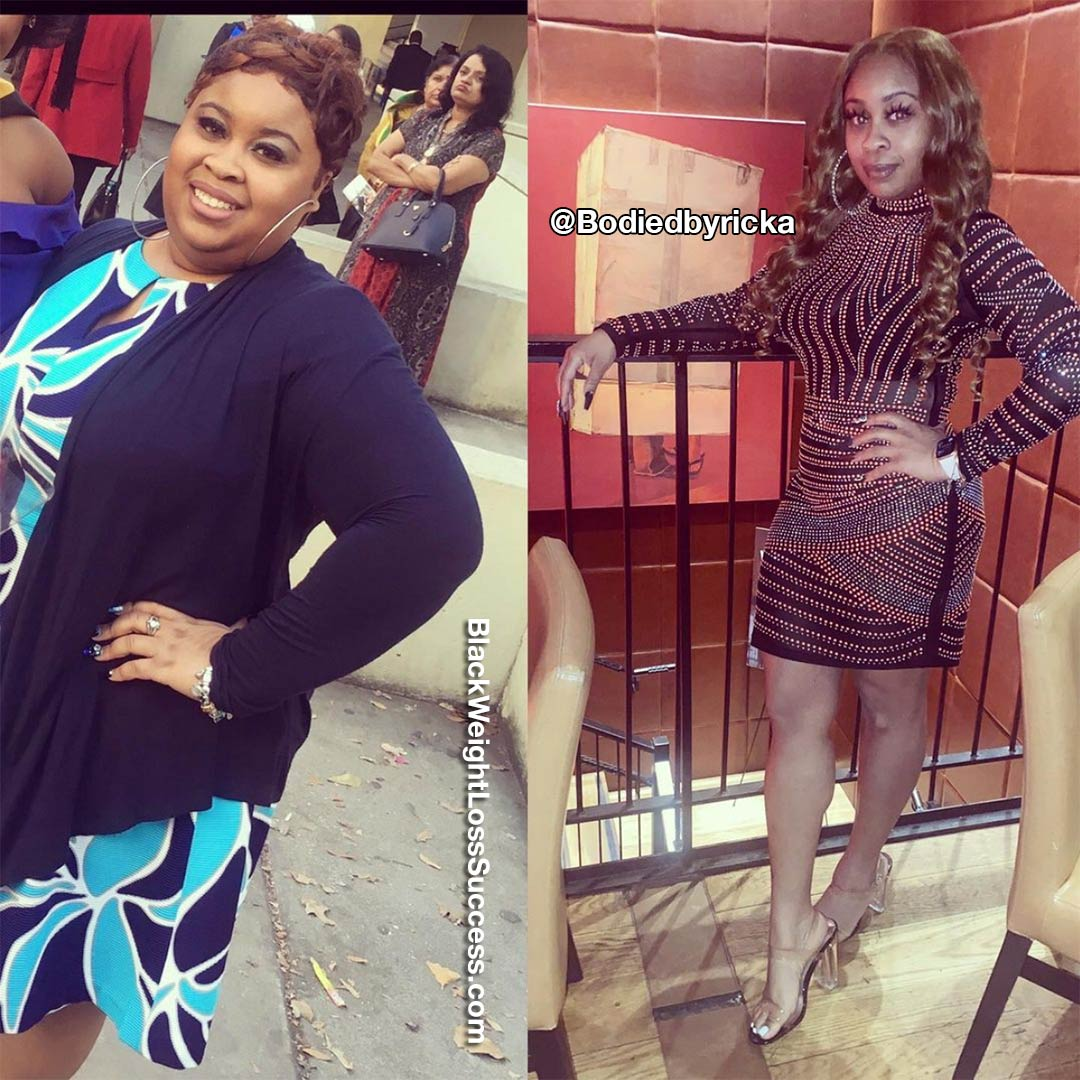 Ricka before and after weight loss