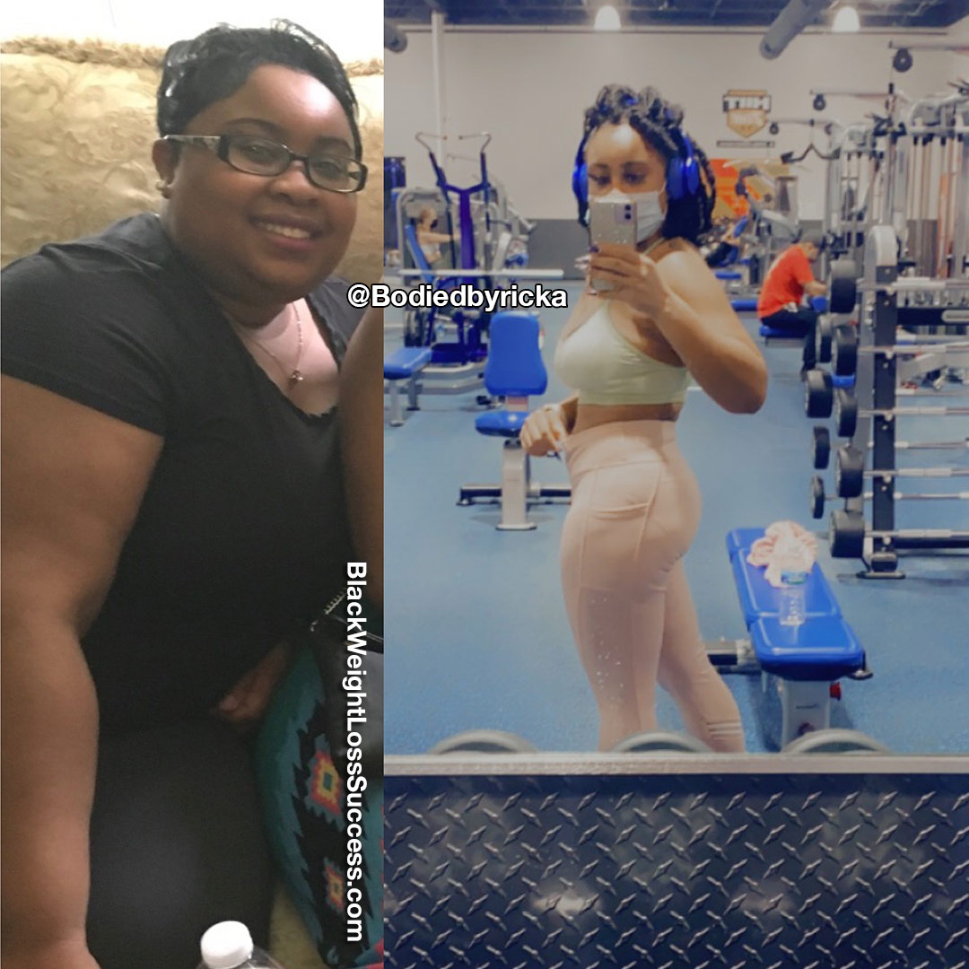 Ricka lost 87 pounds
