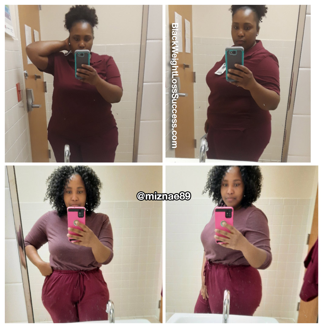 Shanea before and after weight loss
