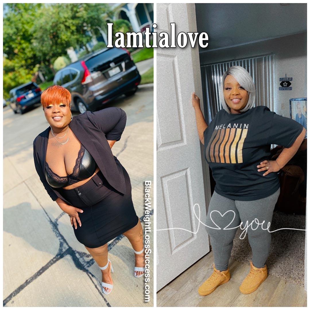 Tiandra lost 77 pounds