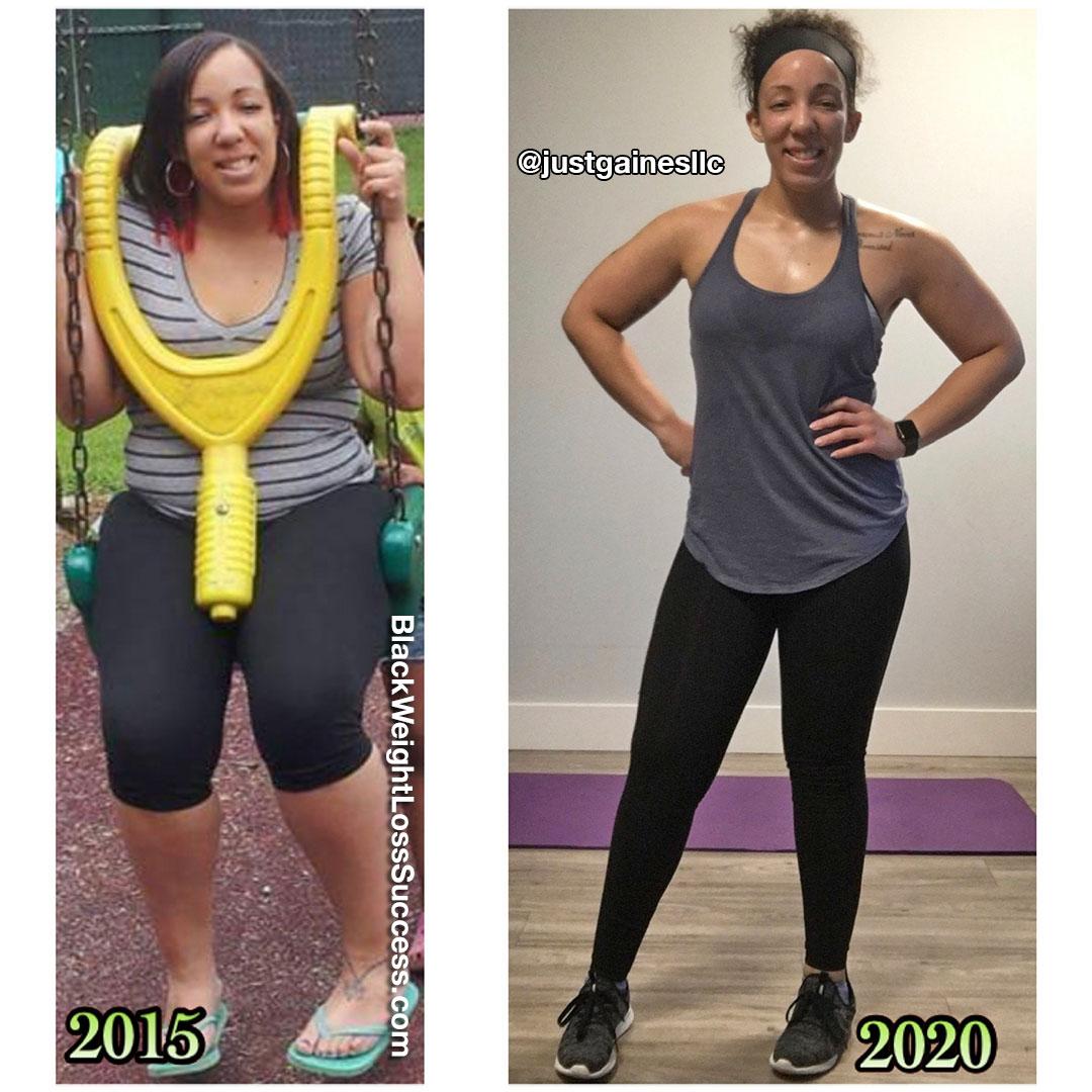 Courtney lost 43 pounds