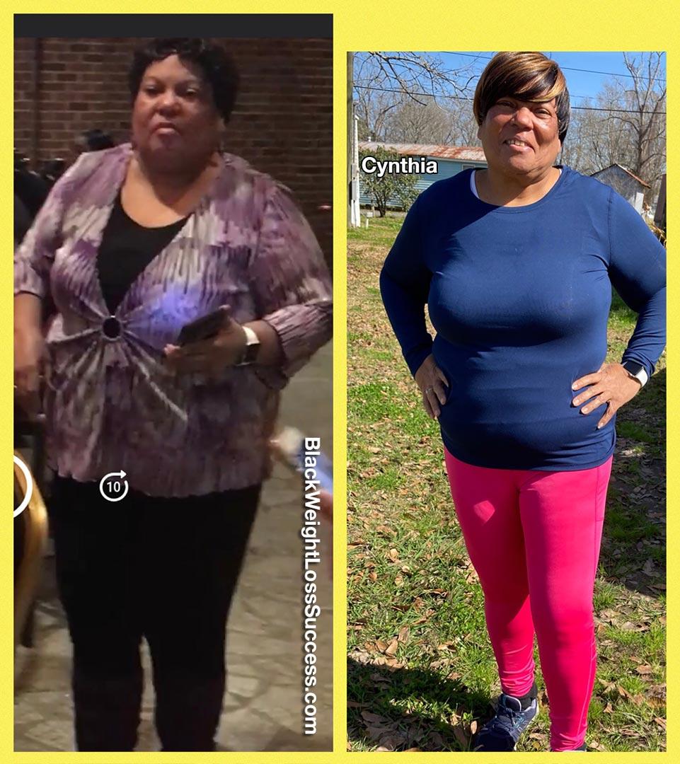 Cynthia lost 50 pounds