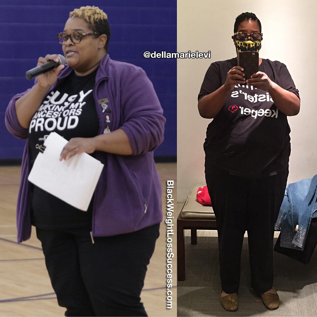 Della lost 80 pounds