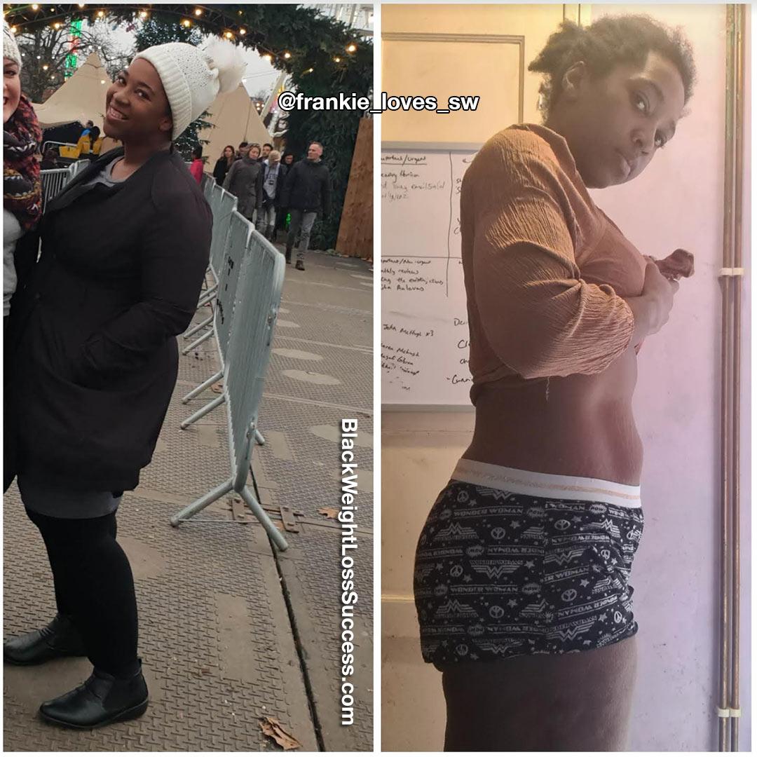 Frankie lost 118 pounds