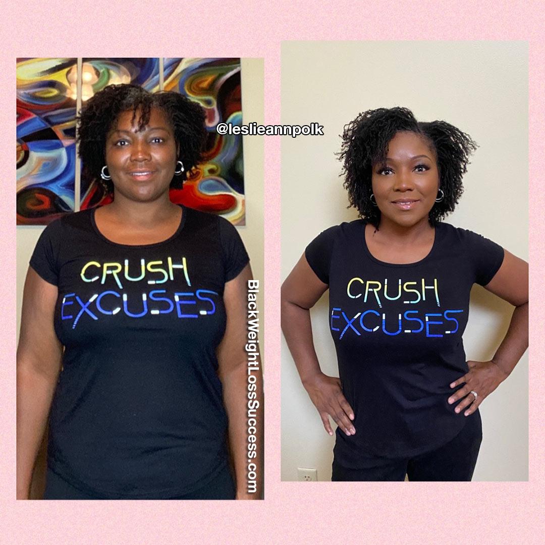 Leslie lost 30 pounds