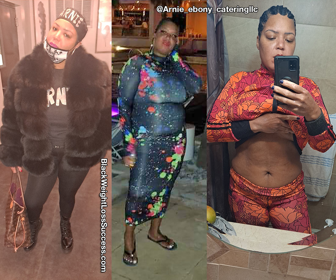 Andrielle lost 45 pounds
