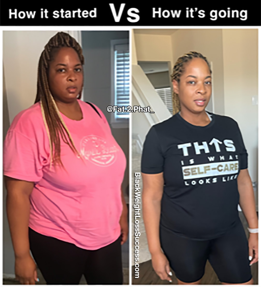 Saulena before and after weight loss