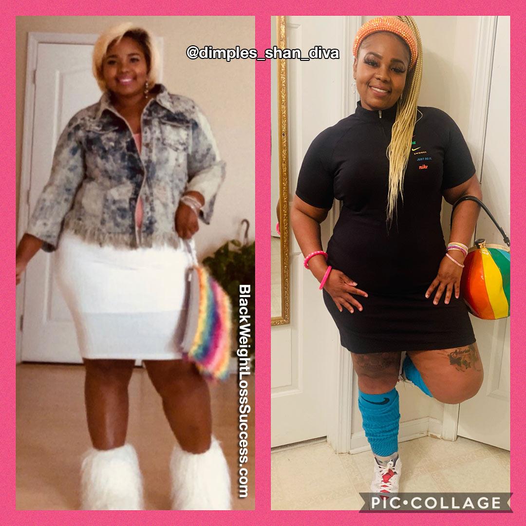 Shanterria lost 53 pounds