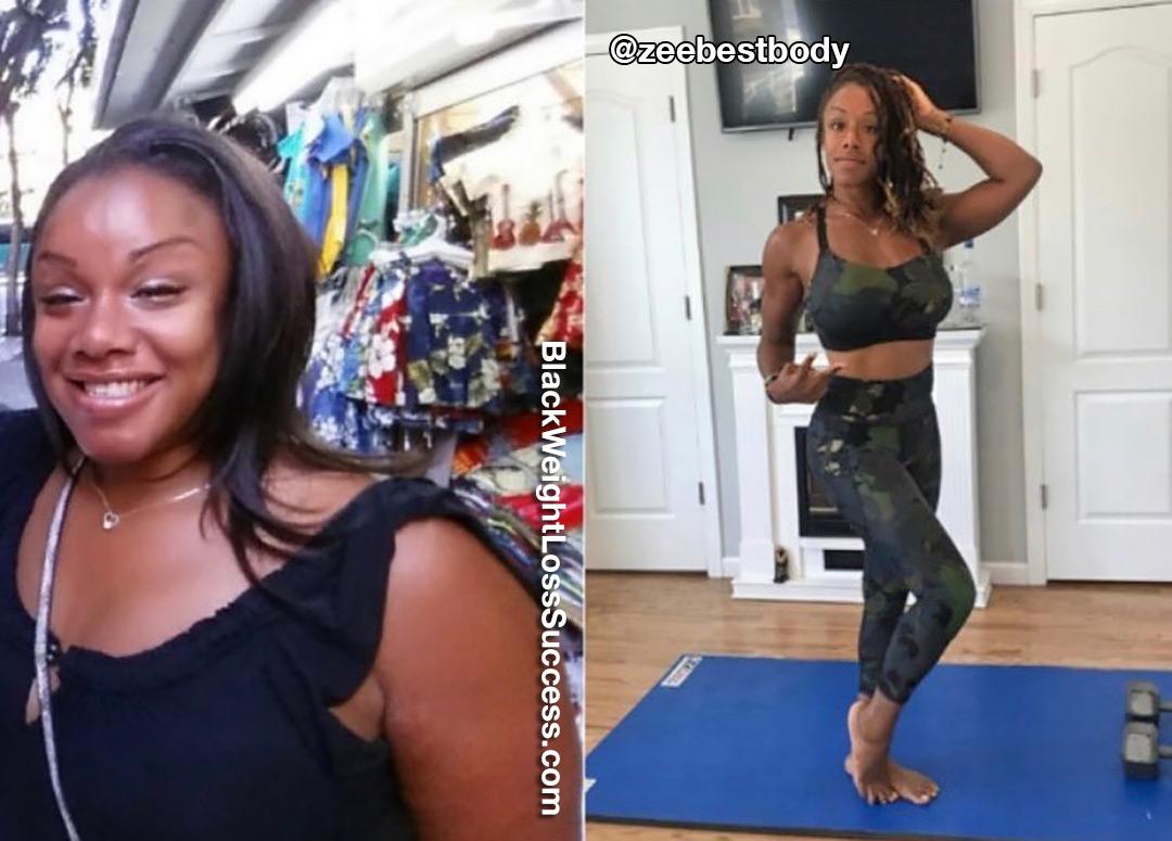 Zurika lost 50 pounds