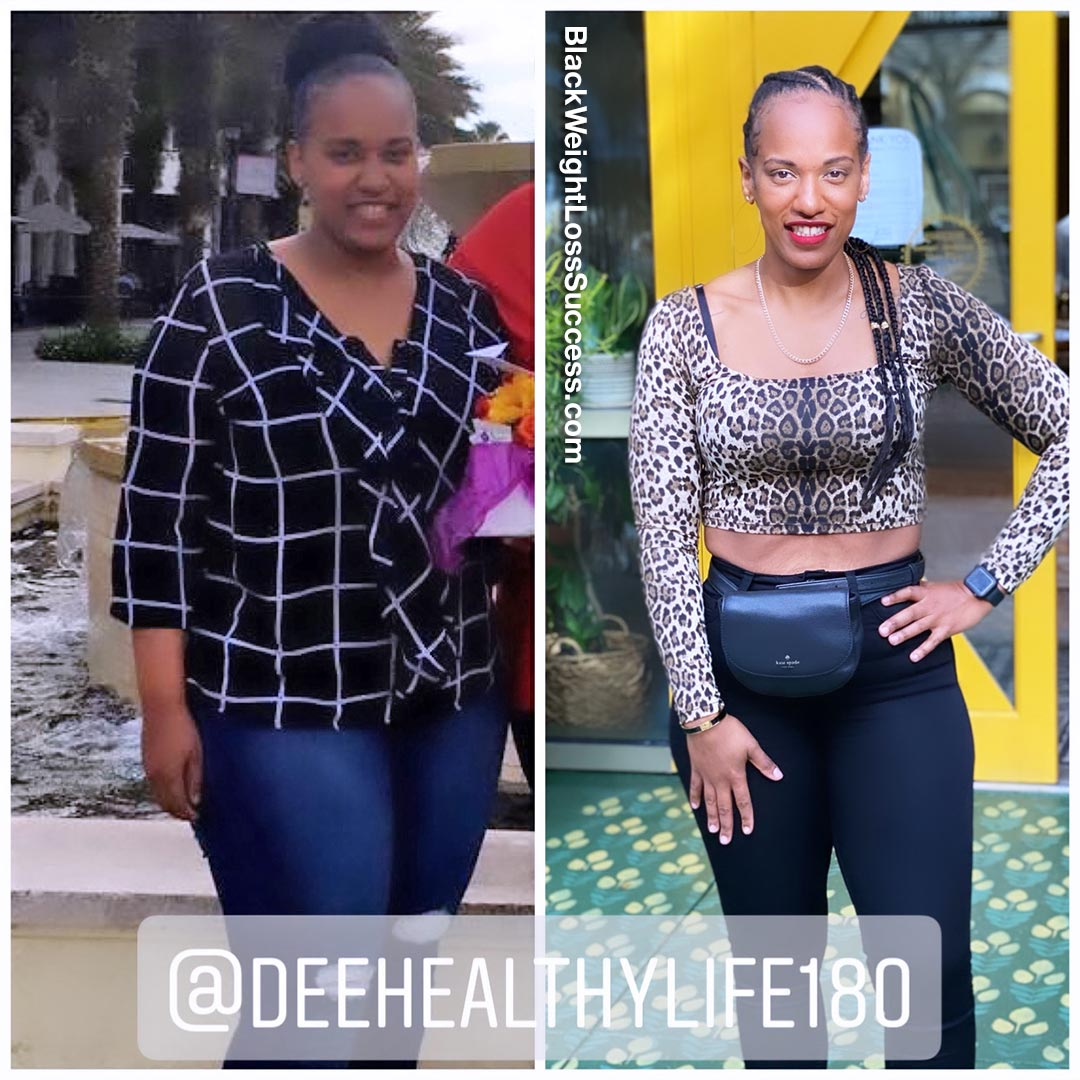 Dee before and after weight loss