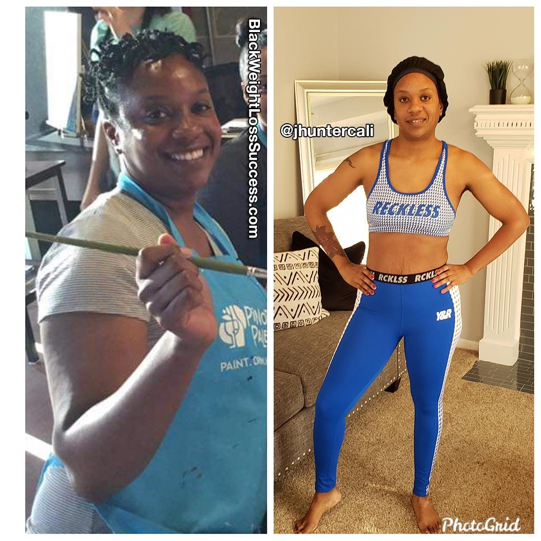 Janea lost 35 pounds