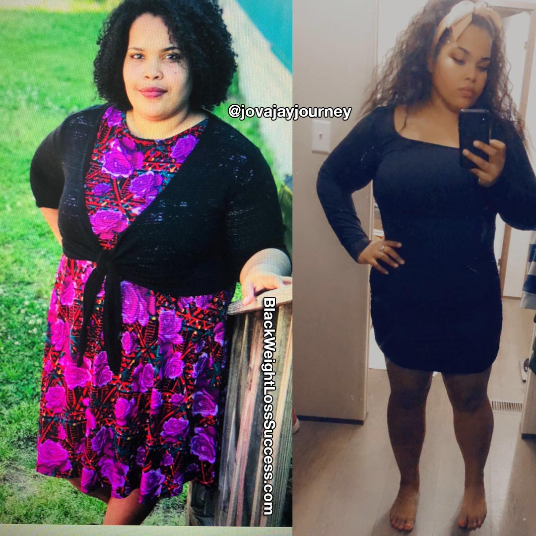 Jovanna before and after weight loss