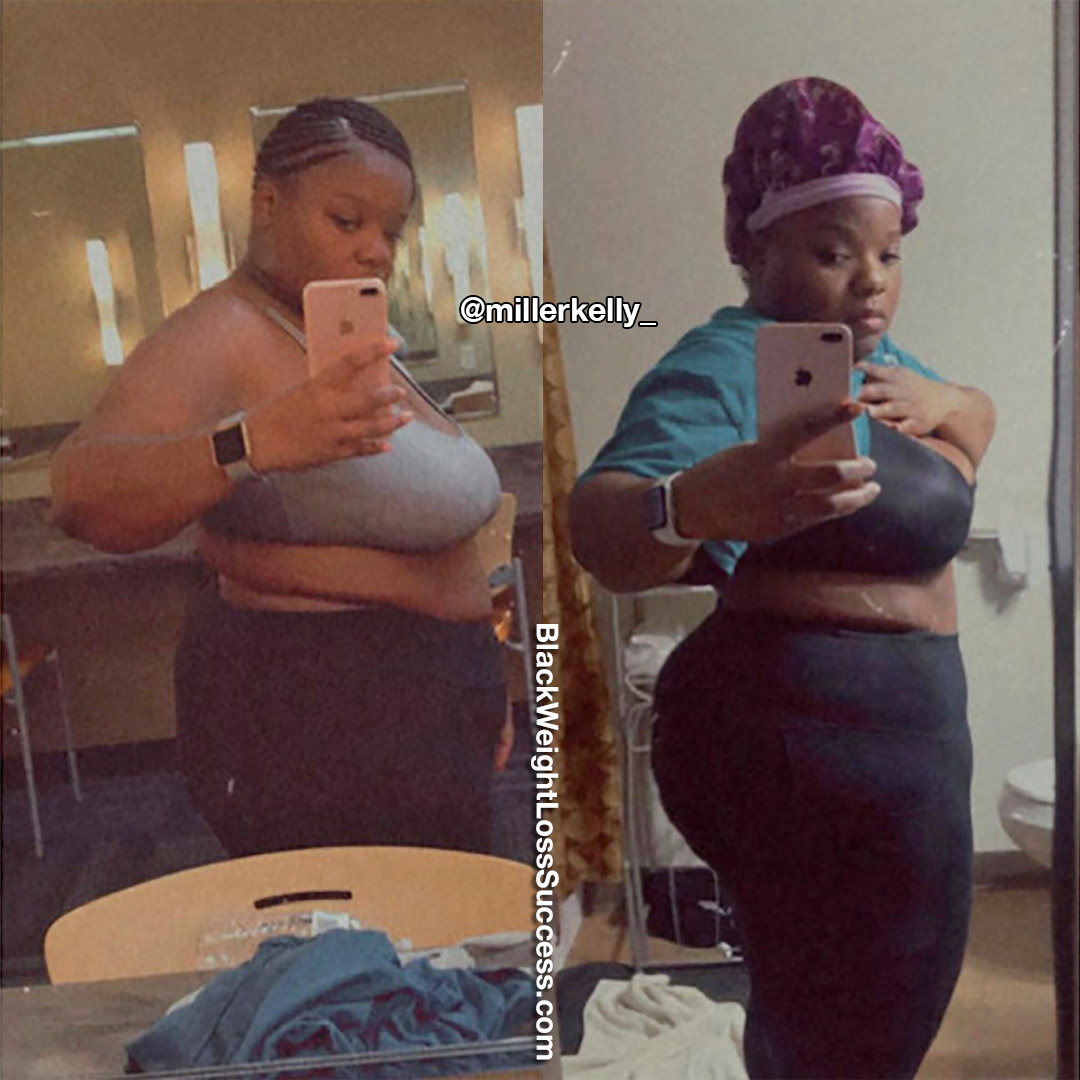 Kelly before and after weight loss