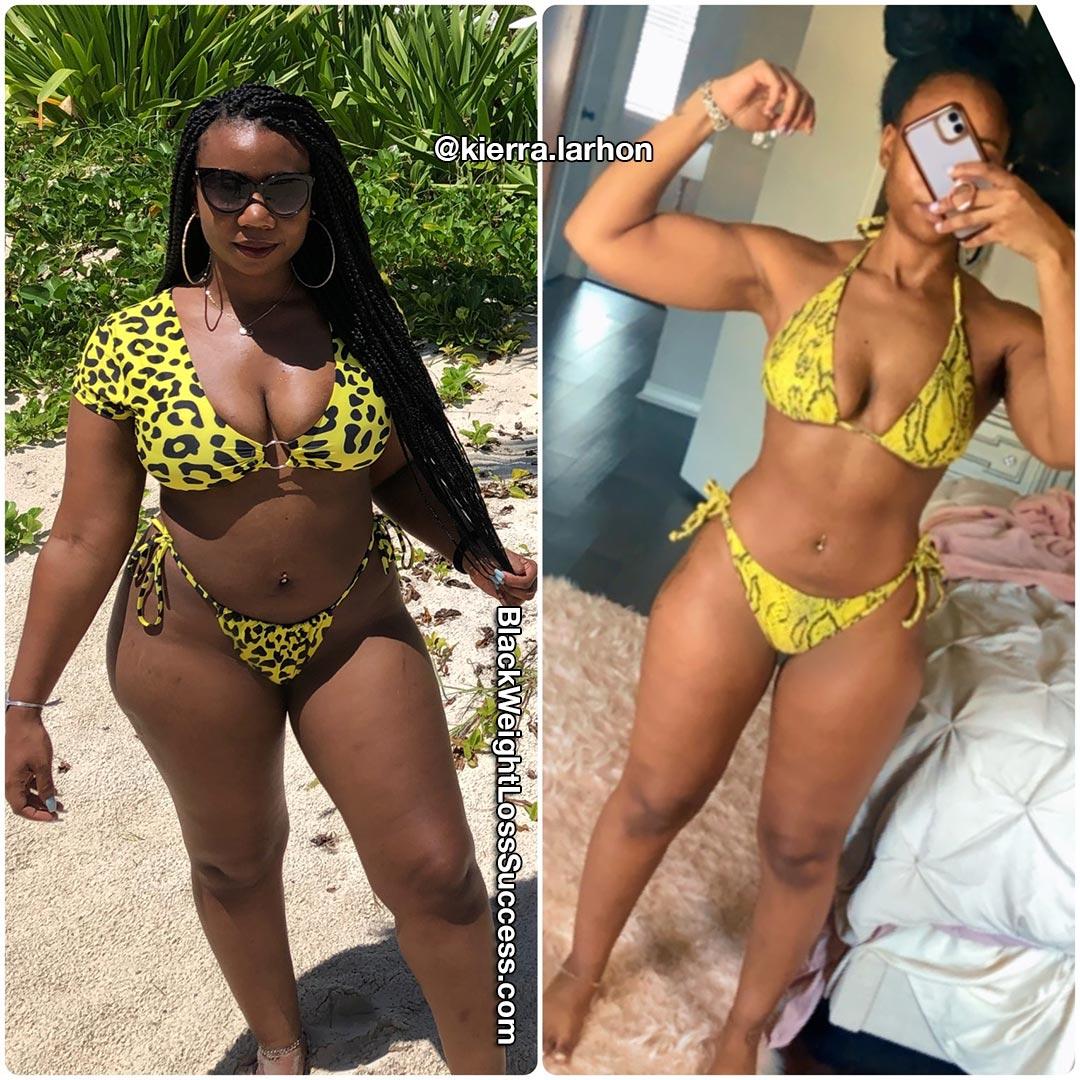Kierra lost 28 pounds