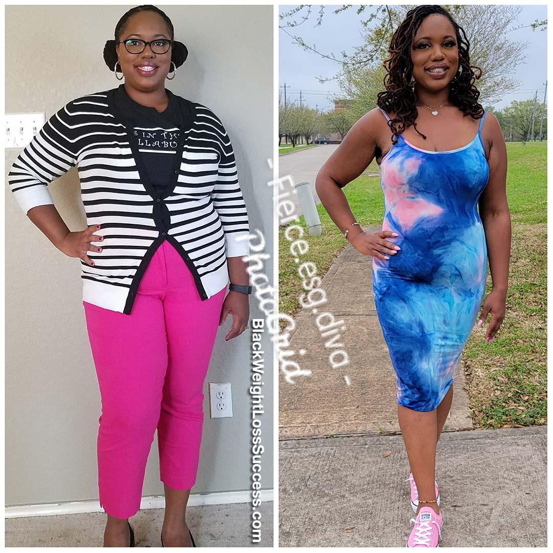 Kyra lost 75 pounds