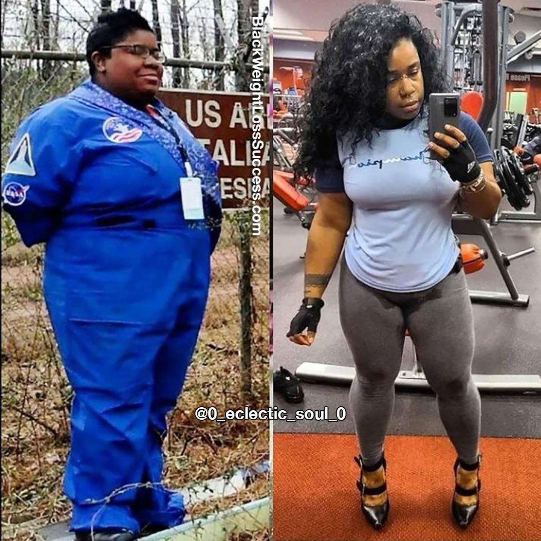 Leah lost 131 pounds