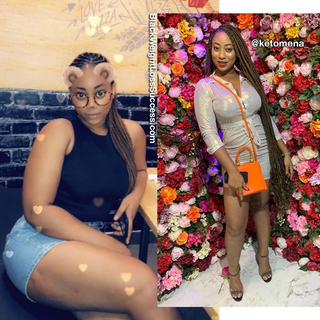Mena lost 43 pounds