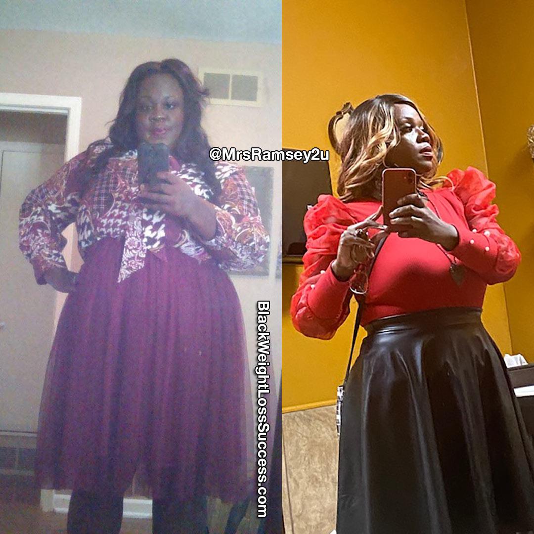 Shemeka lost 133 pounds