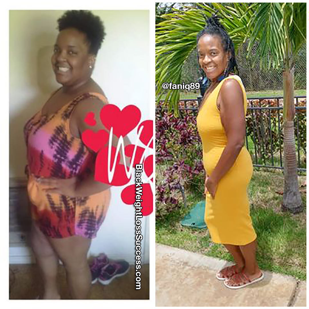 Fanique lost 118 pounds
