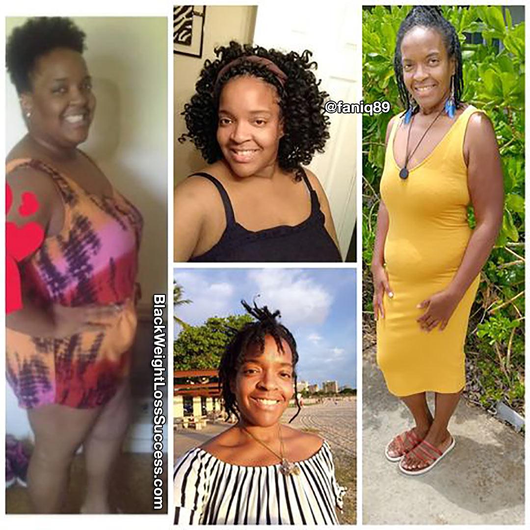Fanique lost 118 pounds