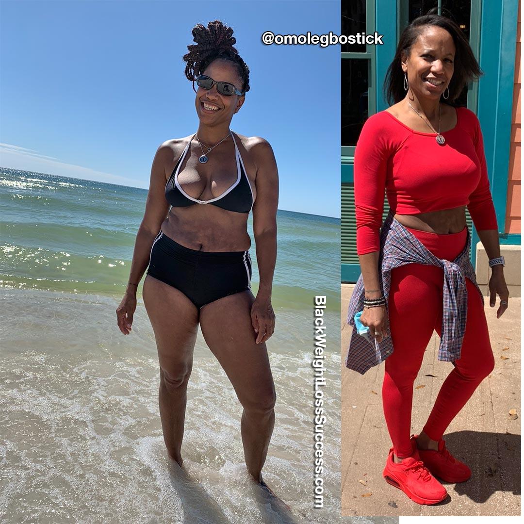 Omolewa lost 18 pounds