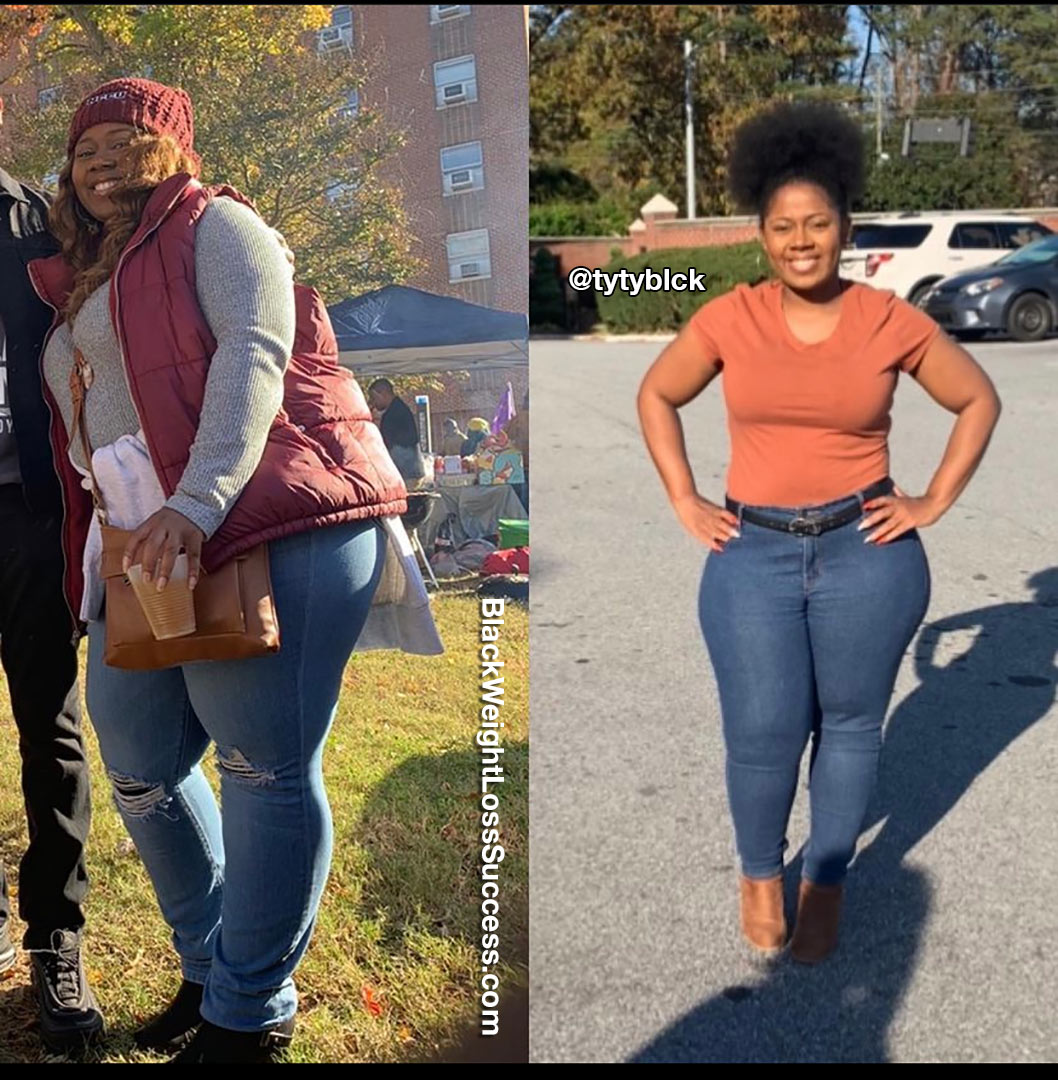 Tyneisha lost 67 pounds