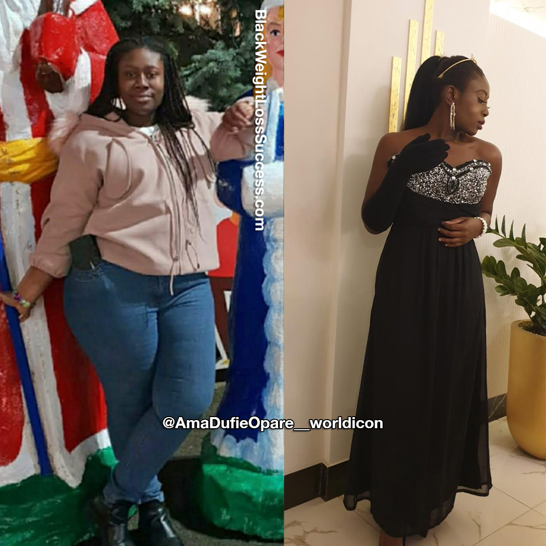 Ama lost 71 pounds