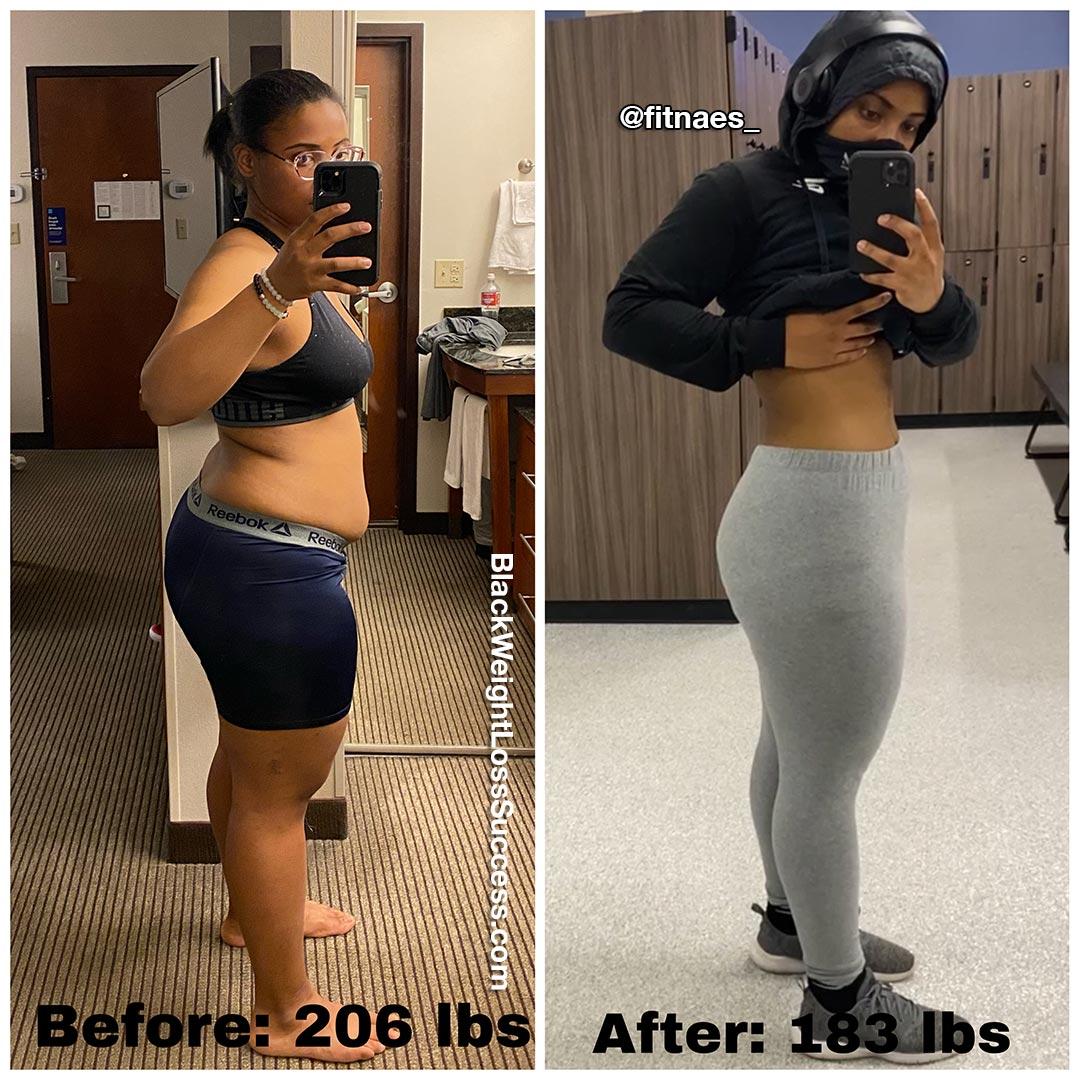 Janae lost 27 pounds