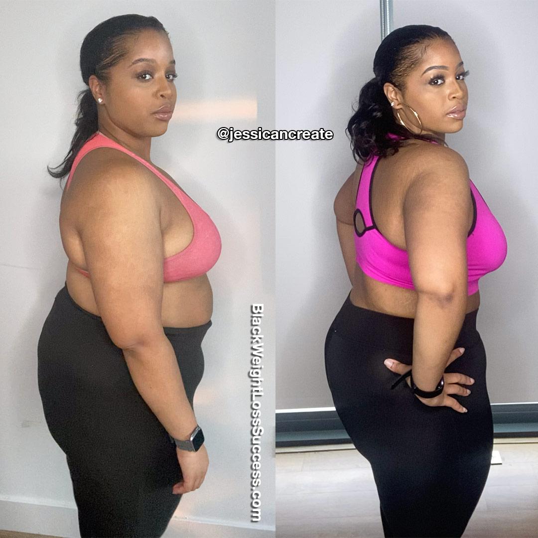 Jess lost 35 pounds