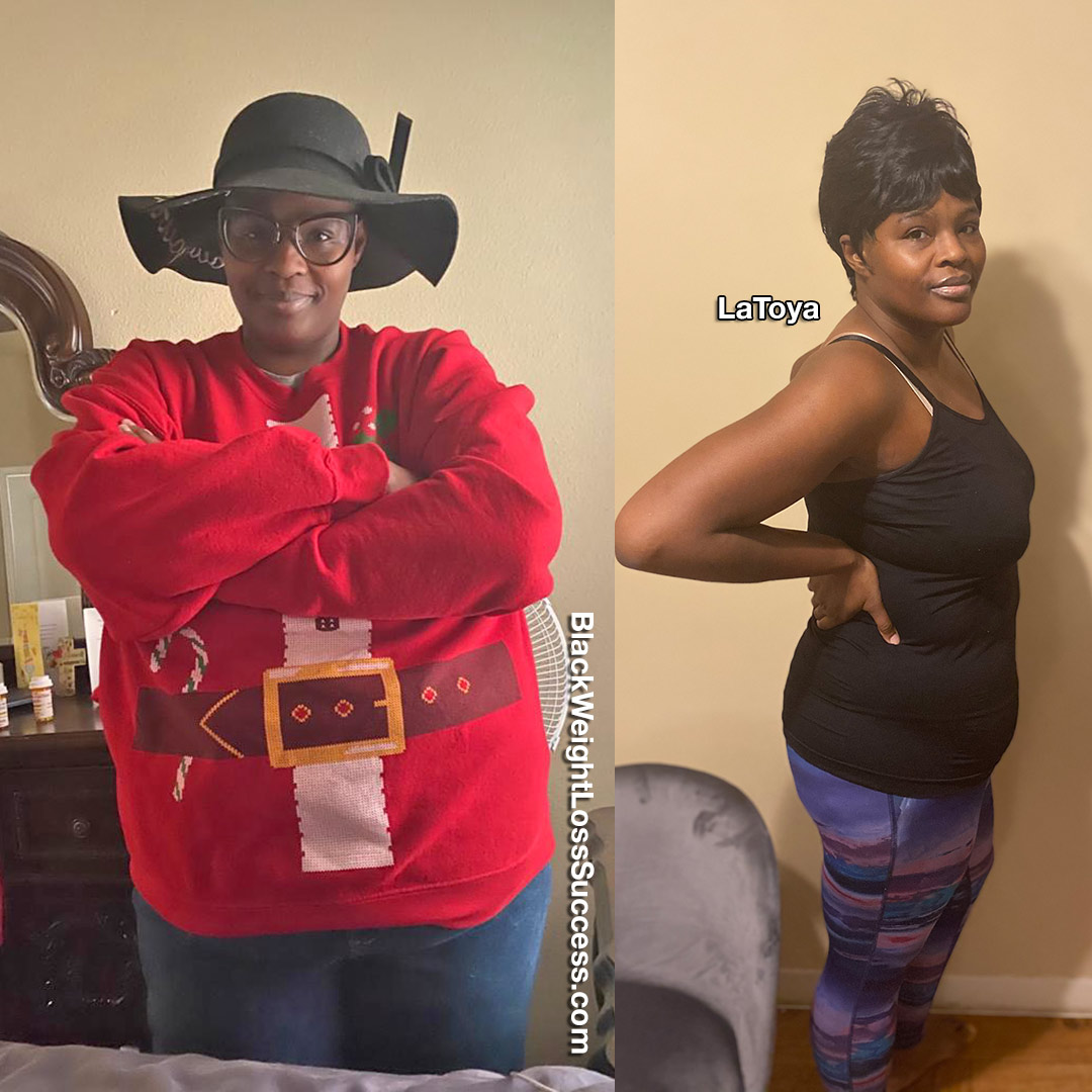 Latoya before and after weight loss