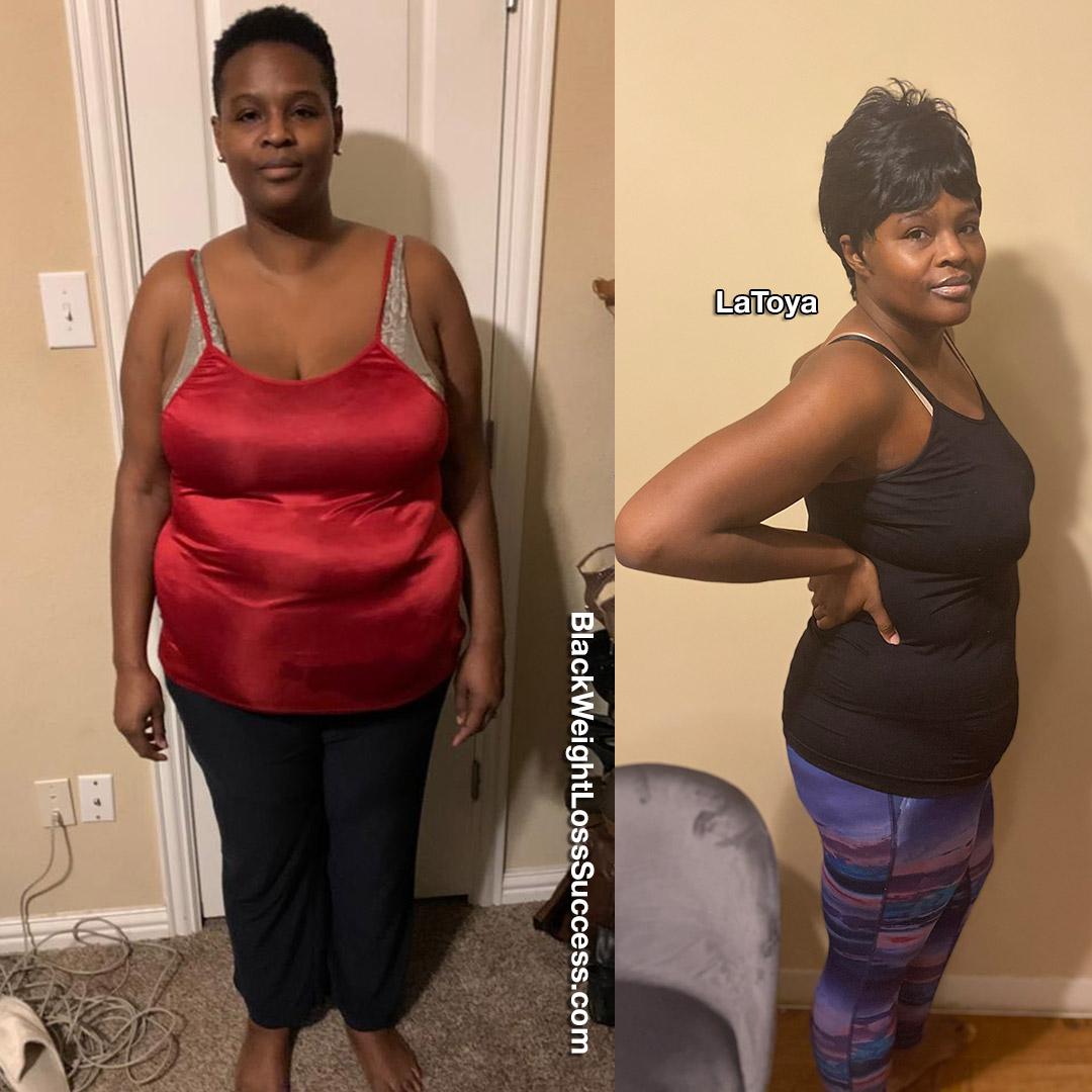 LaToya lost 110 pounds