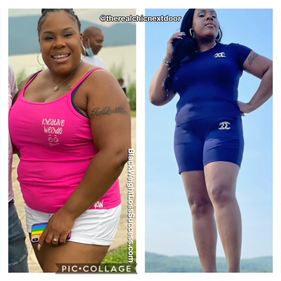 JaQuitta lost 57 pounds
