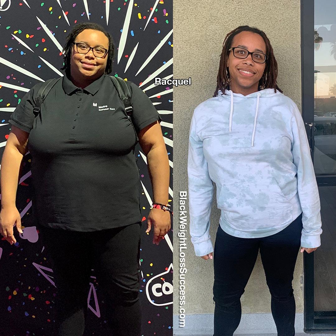 Racquel lost 160 pounds
