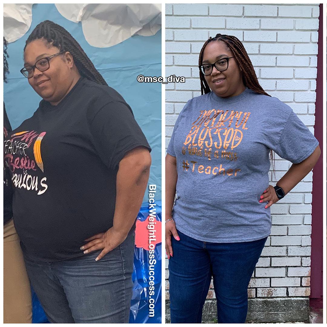 Royalyn lost 53 pounds