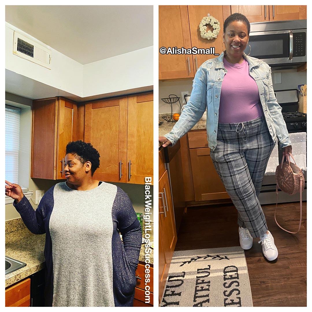 Alisha lost 65 pounds