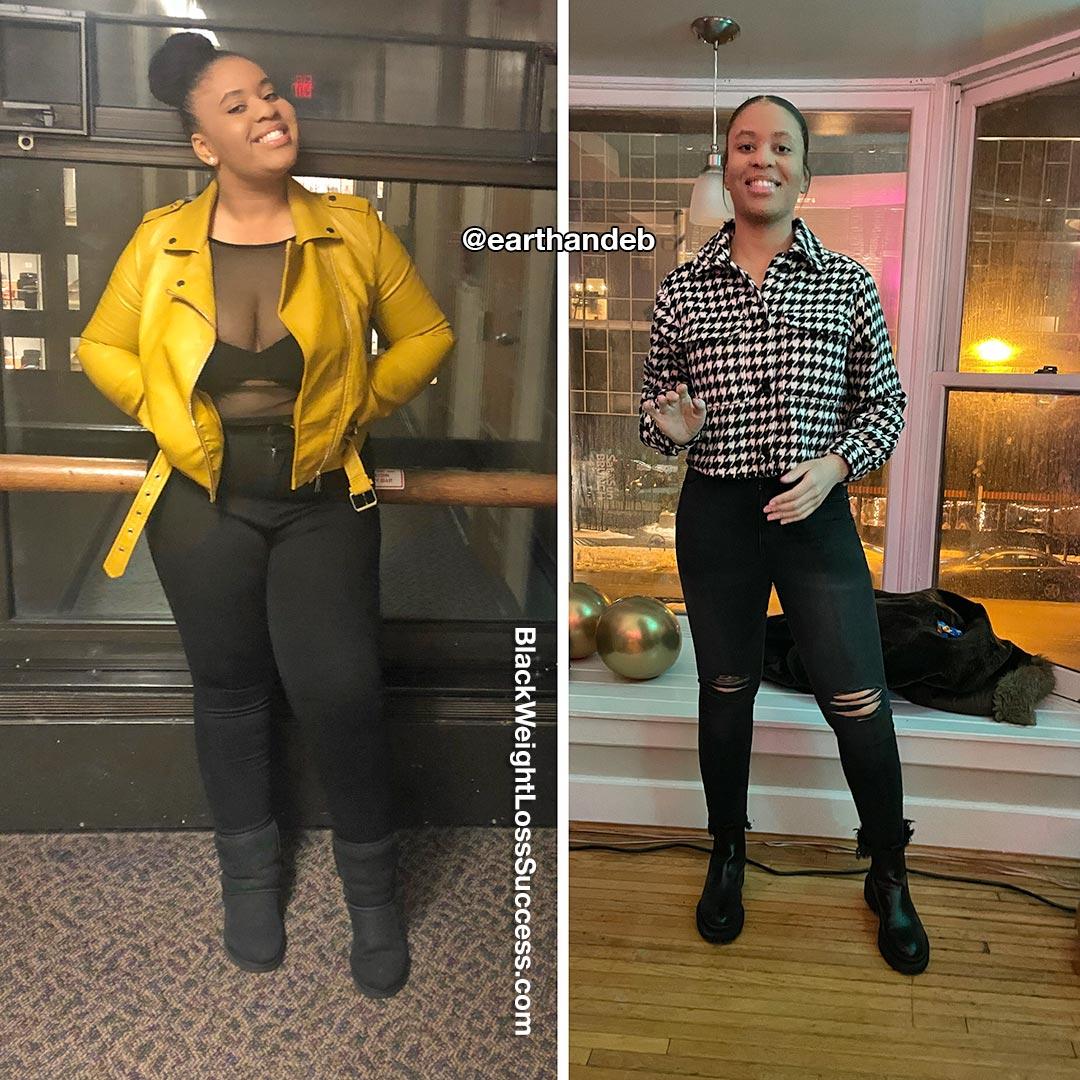 Ebony lost 90 pounds