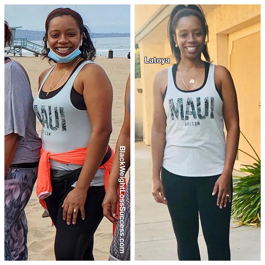 Latoya lost 28 pounds